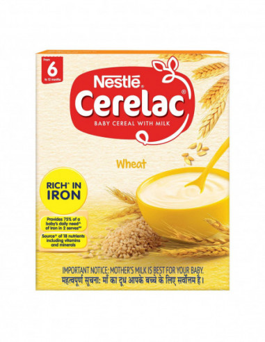NESTLE CERELAC WHEAT 6 TO 12 MONTHS...