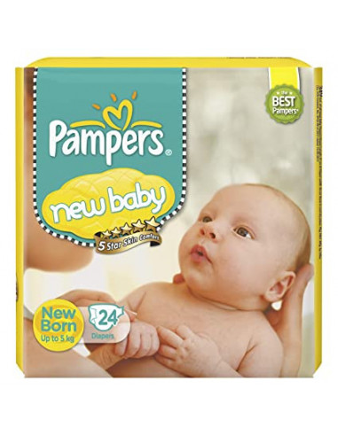 PAMPERS NEW BABY 5 STAR 24 DIAPERS