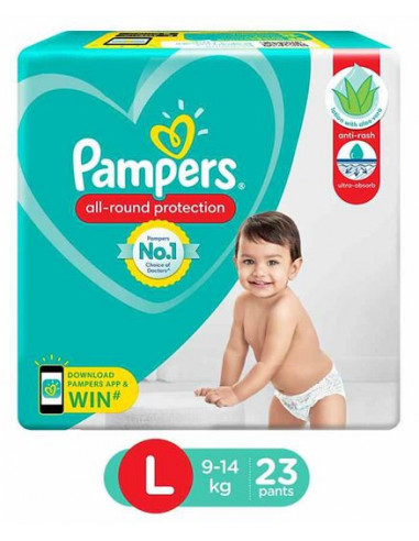 Pampers All Round 23 pants L 9-14 Kg
