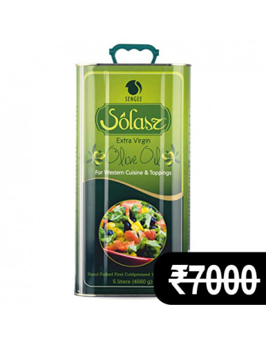 Solasz Extra Light Olive Oil 5 Ltr.