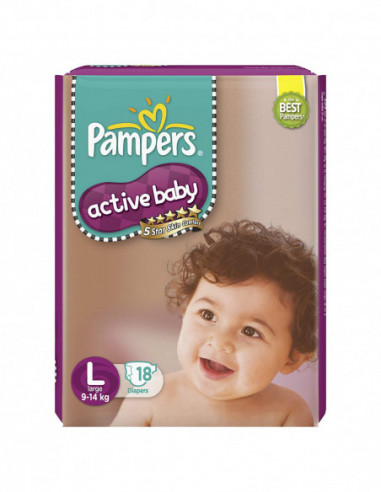 Pampers Active Baby 9-14kg Large 18...