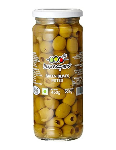 Luxeapers Green Olives Pitted 450g