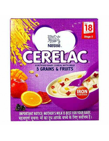 CERELAC 5 GRAINS FRUITS STAGE 5 300GM